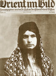 Islamized and tattooed Armenian woman